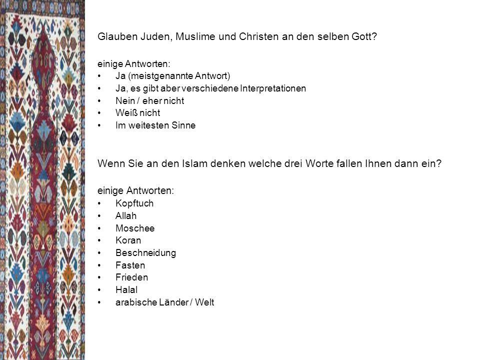 Glauben Juden, Muslime und Christen an den selben Gott.