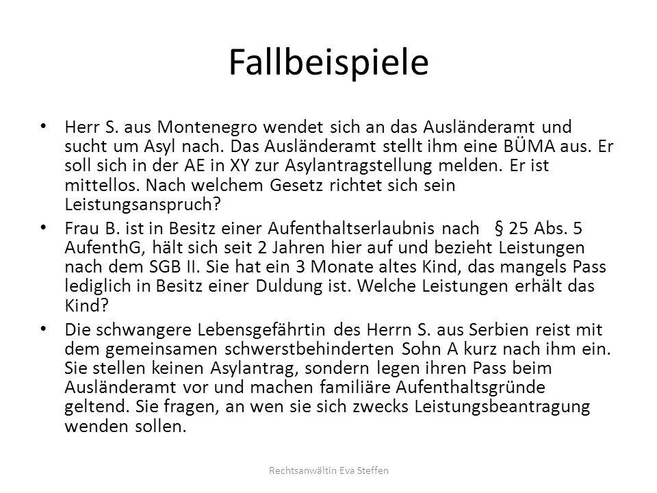 Aktuelle Rechtsprechung Leistungskürzung § 1 a AsylbLG unzulässig LSG Bayern, B.