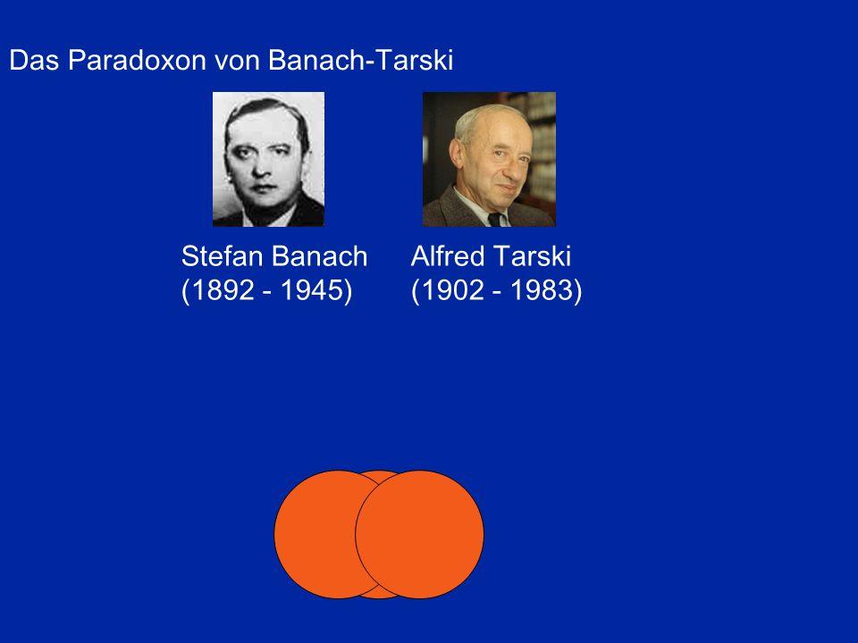 Das Paradoxon von Banach-Tarski Stefan Banach (1892 - 1945) Alfred Tarski (1902 - 1983)