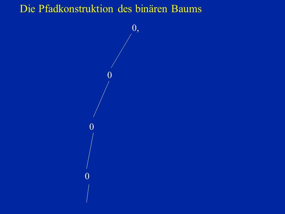 0, 0 0 0 Die Pfadkonstruktion des binären Baums