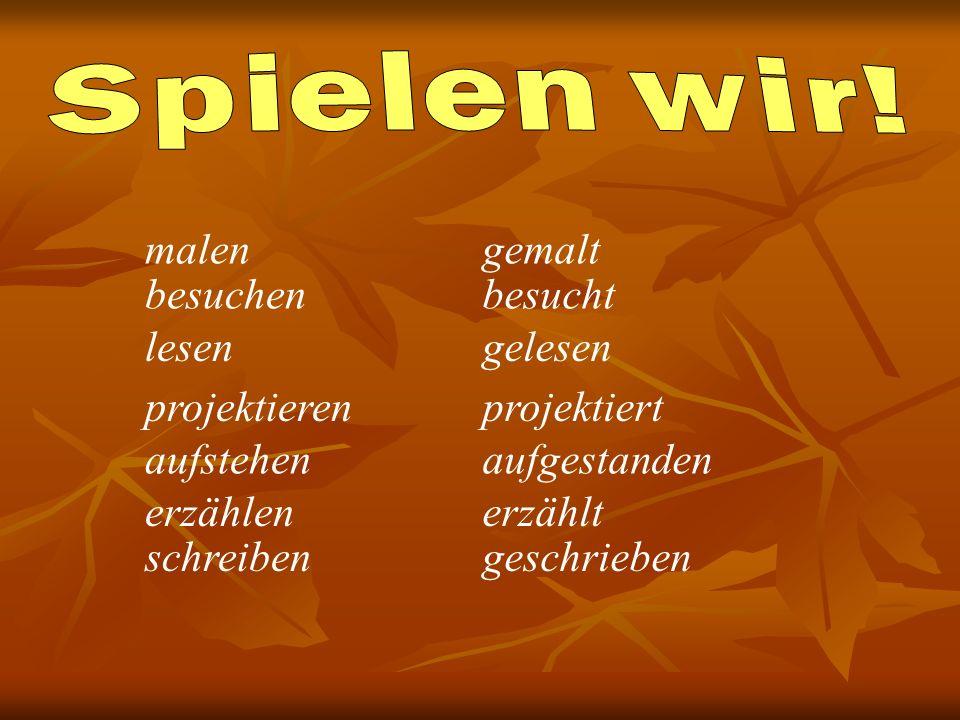 Perfekt сильных глаголов. Сильные глаголы в отличие от слабых образуют Partizip II с помощью суффикса -en, приставка та же ge-: ge____en lesen – geles