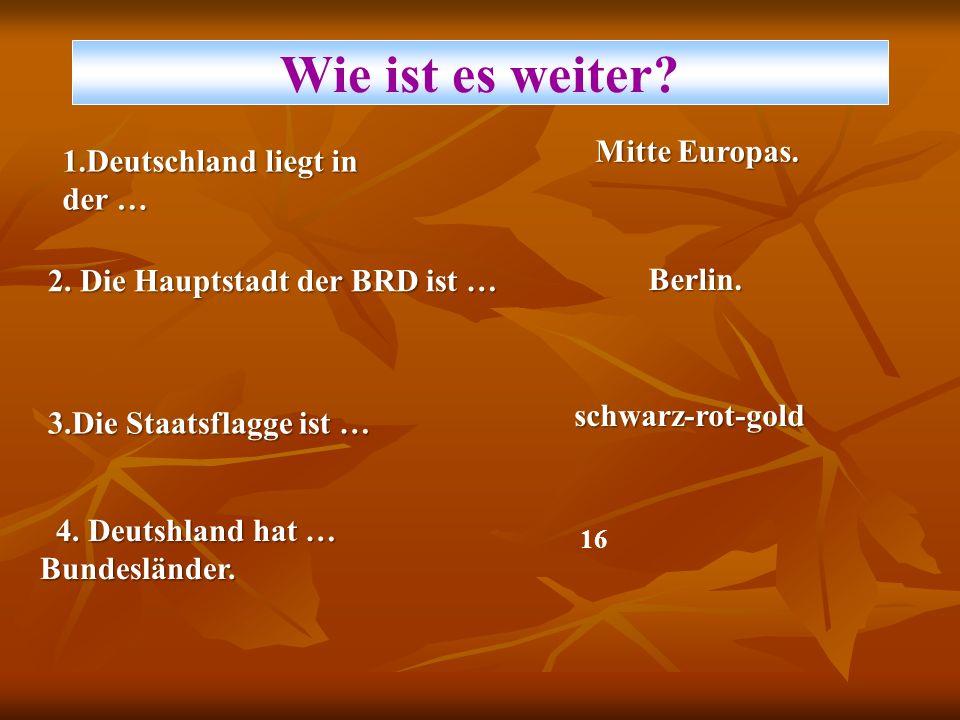 Bonn, Bremen, Leipzig, Dresden, Köln und viele andere.
