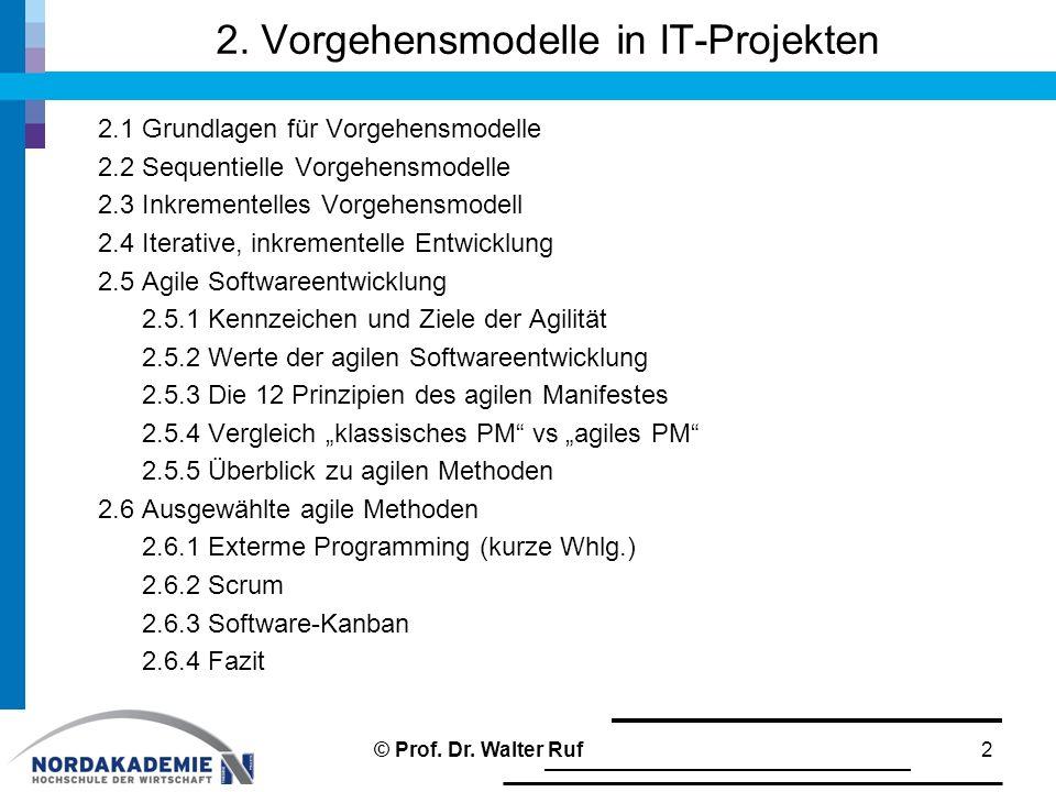 Wertestruktur beim Extreme Programming 23© Prof. Dr. Walter Ruf