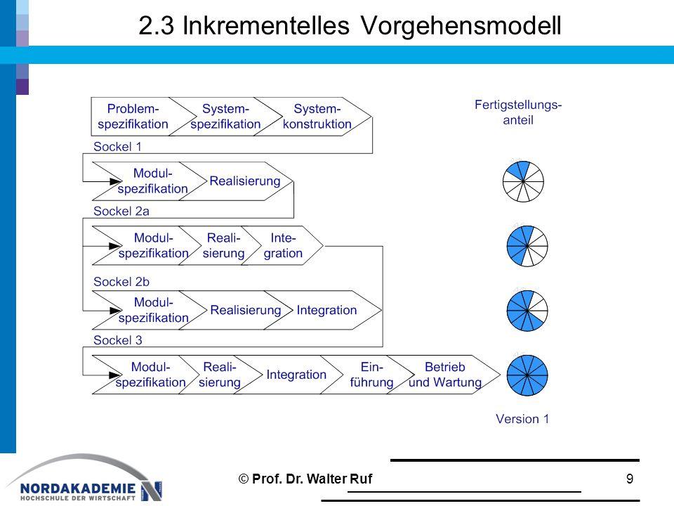 2.3 Inkrementelles Vorgehensmodell 9© Prof. Dr. Walter Ruf