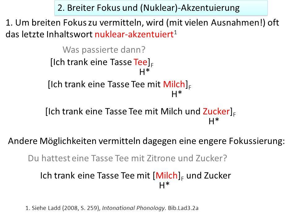 2.Breiter Fokus und (Nuklear)-Akzentuierung 1.