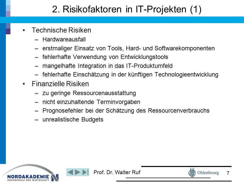Prof. Dr. Walter Ruf 2.