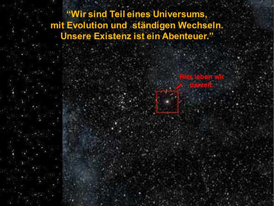 ... auf einem Kollisionskurs mit Andromedaauf einem bei einer Geschwindigkeit von 230.000 kmh (augenblicklich in 2,3 Millionen Lichtjahren Entfernung)