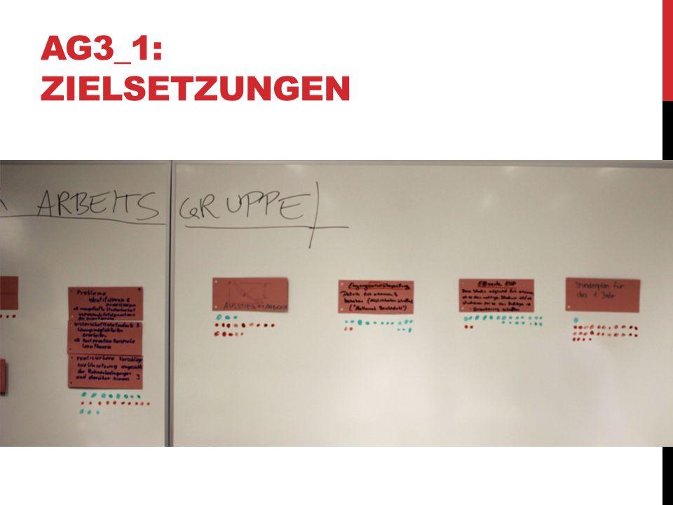 AG3_4: ELEMENTE DER EINGANGSPHASE Sammlung von Pro & Contra der unterschiedlichen Aspekte  Als Entscheidungsgrundlage für die weitere Bearbeitung