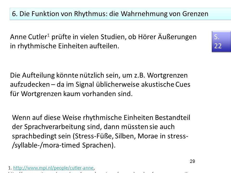 10. Rhythmus in den Sprachen der Welt 2. Isochronie 3.