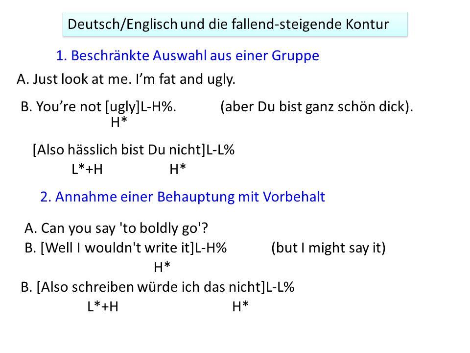 38 Sprachbedingte Beziehungen zwischen der Bedeutung und Intonation 3.