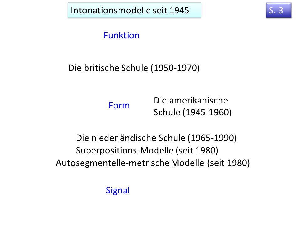 3. Modelle der Intonation Vorlesung 3 S.