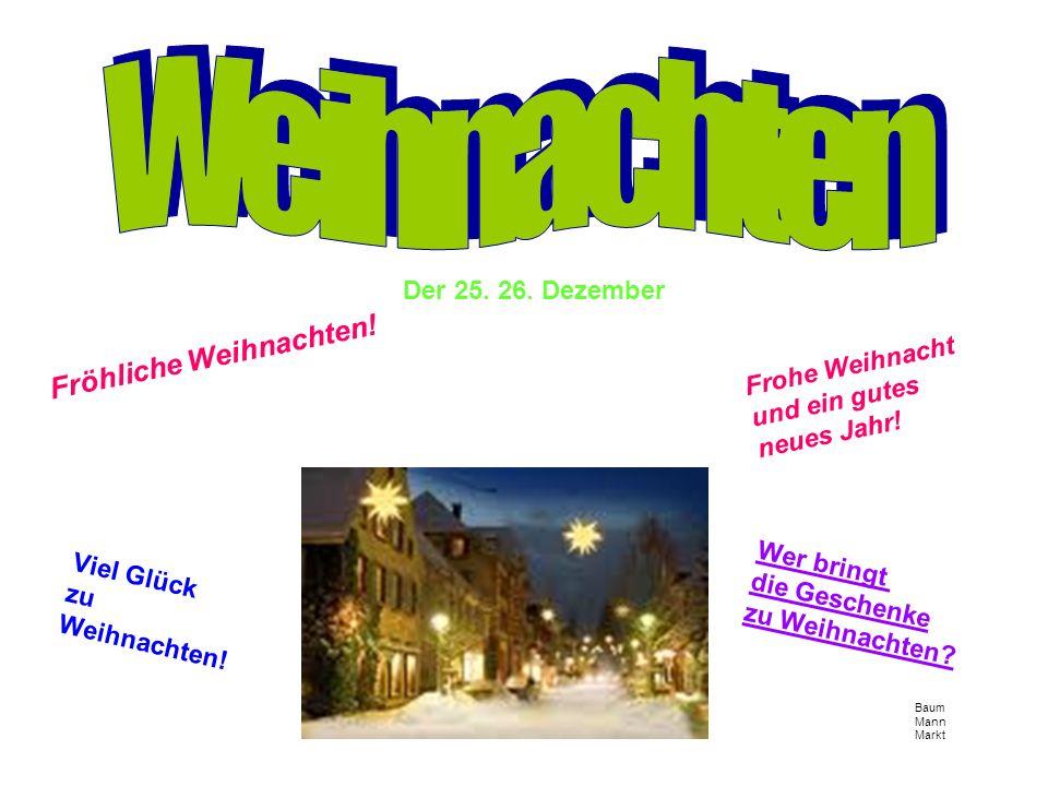 Baum Mann Markt Der 25. 26. Dezember Fröhliche Weihnachten.