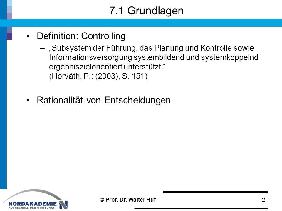 """Definition: Controlling –""""Subsystem der Führung, das Planung und Kontrolle sowie Informationsversorgung systembildend und systemkoppelnd ergebniszielo"""