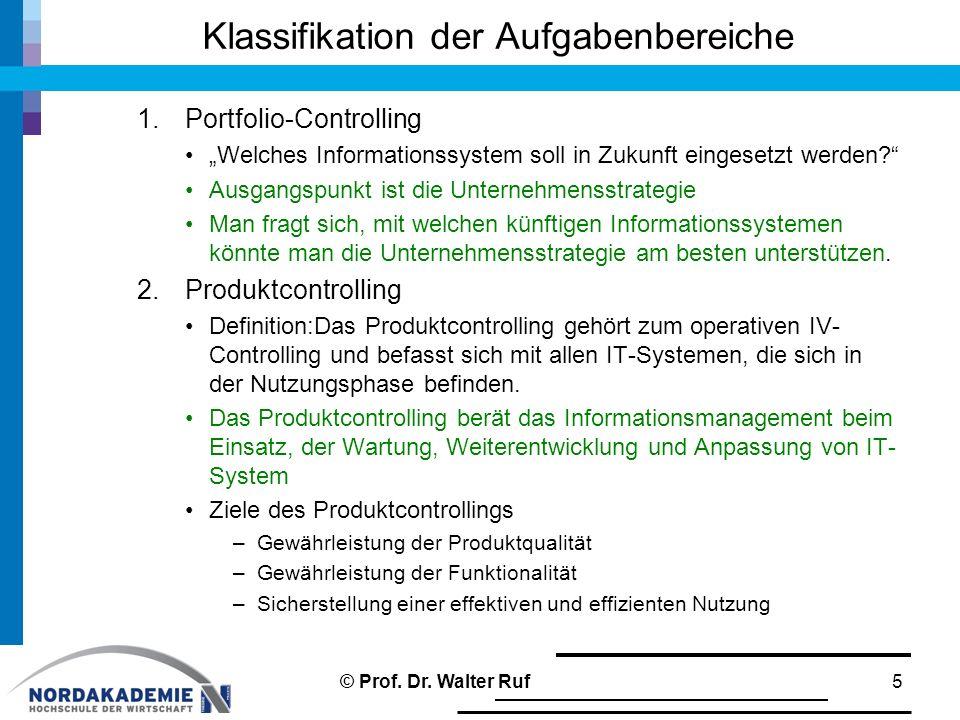 """Klassifikation der Aufgabenbereiche 1.Portfolio-Controlling """"Welches Informationssystem soll in Zukunft eingesetzt werden?"""" Ausgangspunkt ist die Unte"""