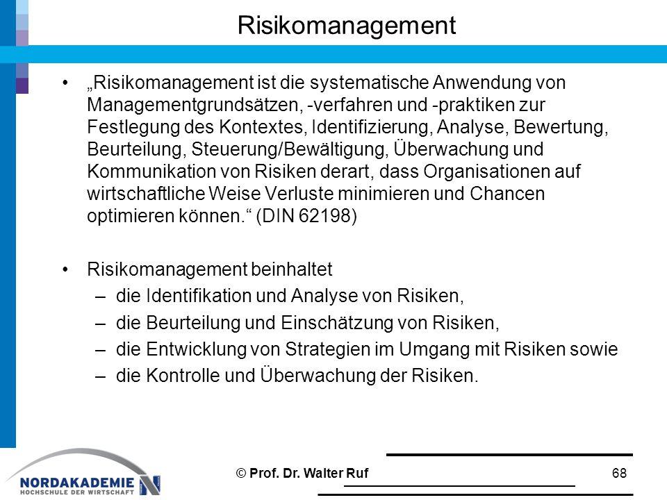 """Risikomanagement """"Risikomanagement ist die systematische Anwendung von Managementgrundsätzen, -verfahren und -praktiken zur Festlegung des Kontextes,"""