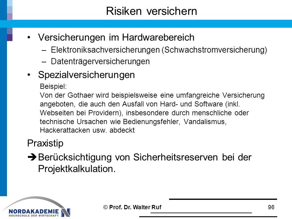 Risiken versichern Versicherungen im Hardwarebereich –Elektroniksachversicherungen (Schwachstromversicherung) –Datenträgerversicherungen Spezialversic