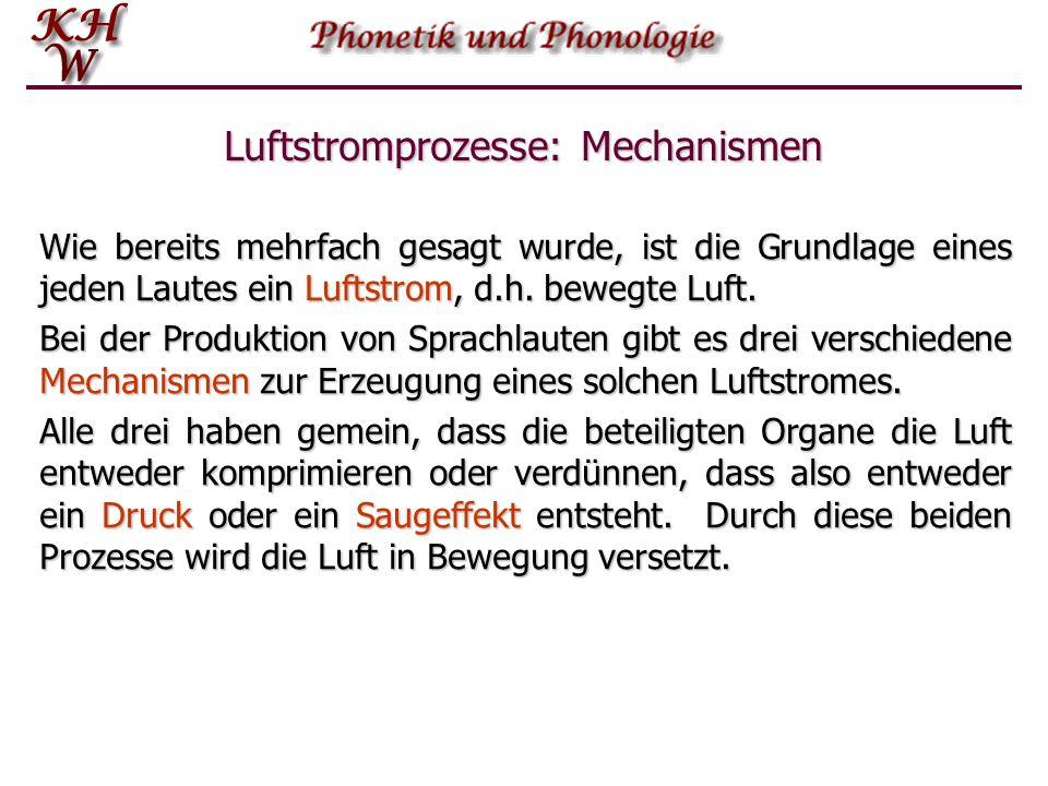Luftstrom- prozess Einführung in die Phonetik und Phonologie   Luftstromprozesse