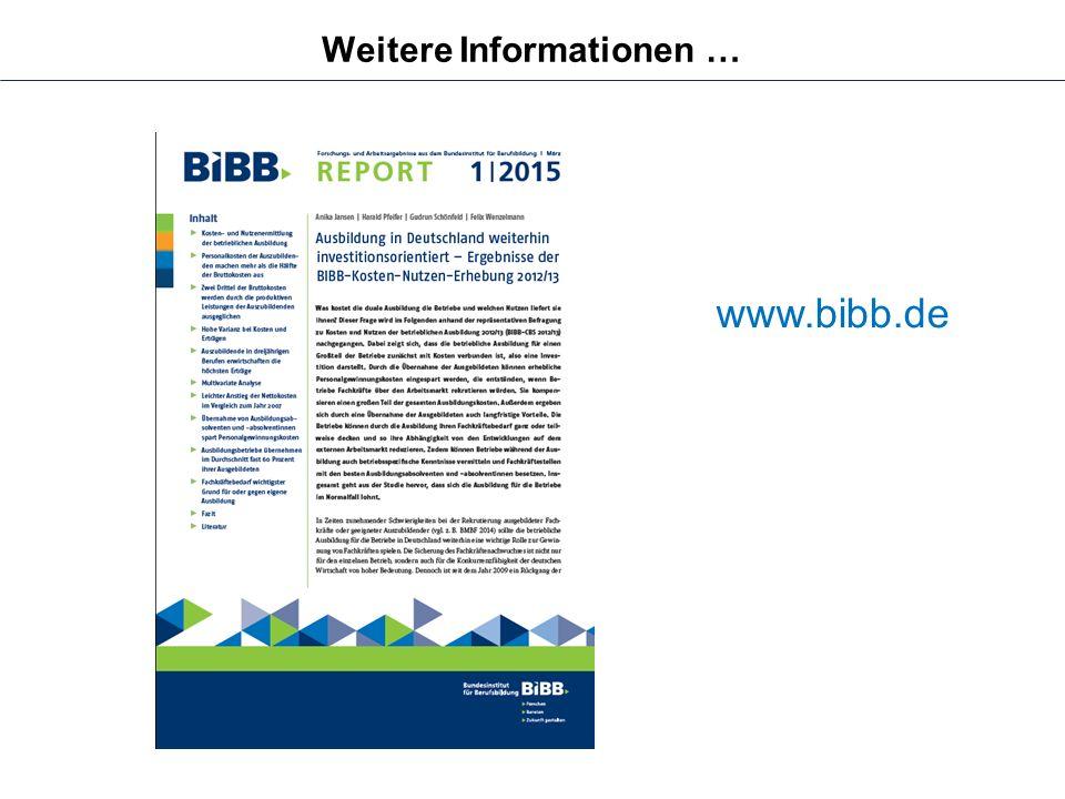 www.bibb.de Weitere Informationen …