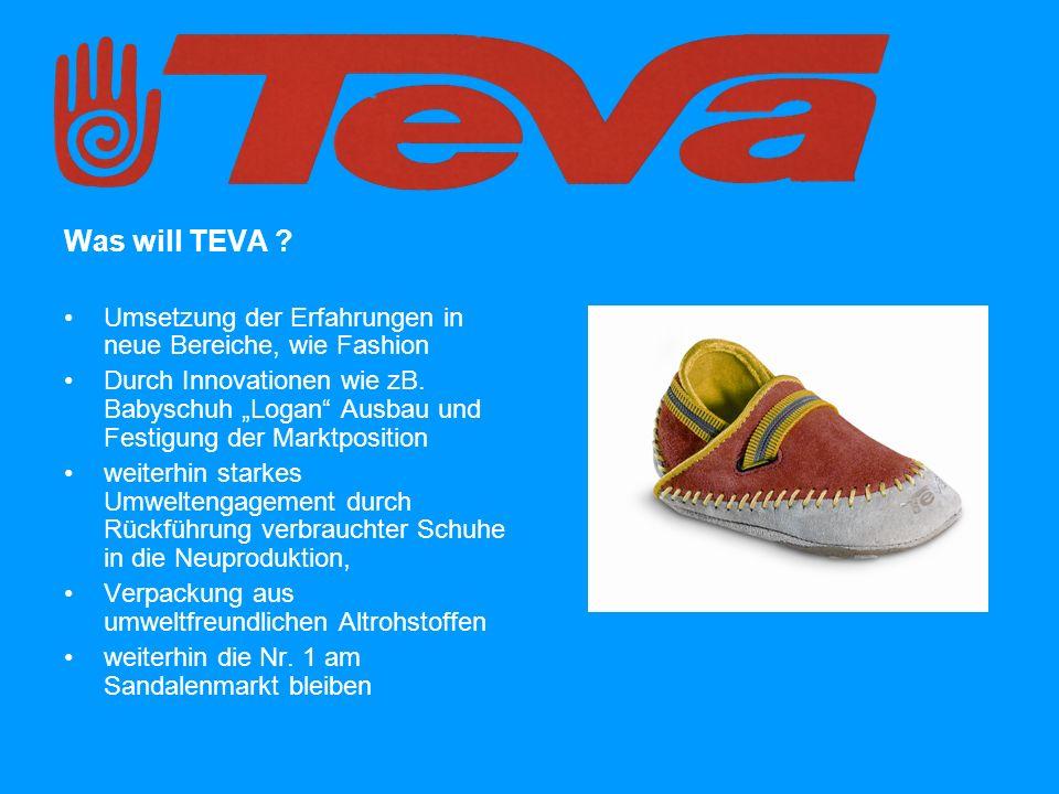 Was will TEVA . Umsetzung der Erfahrungen in neue Bereiche, wie Fashion Durch Innovationen wie zB.