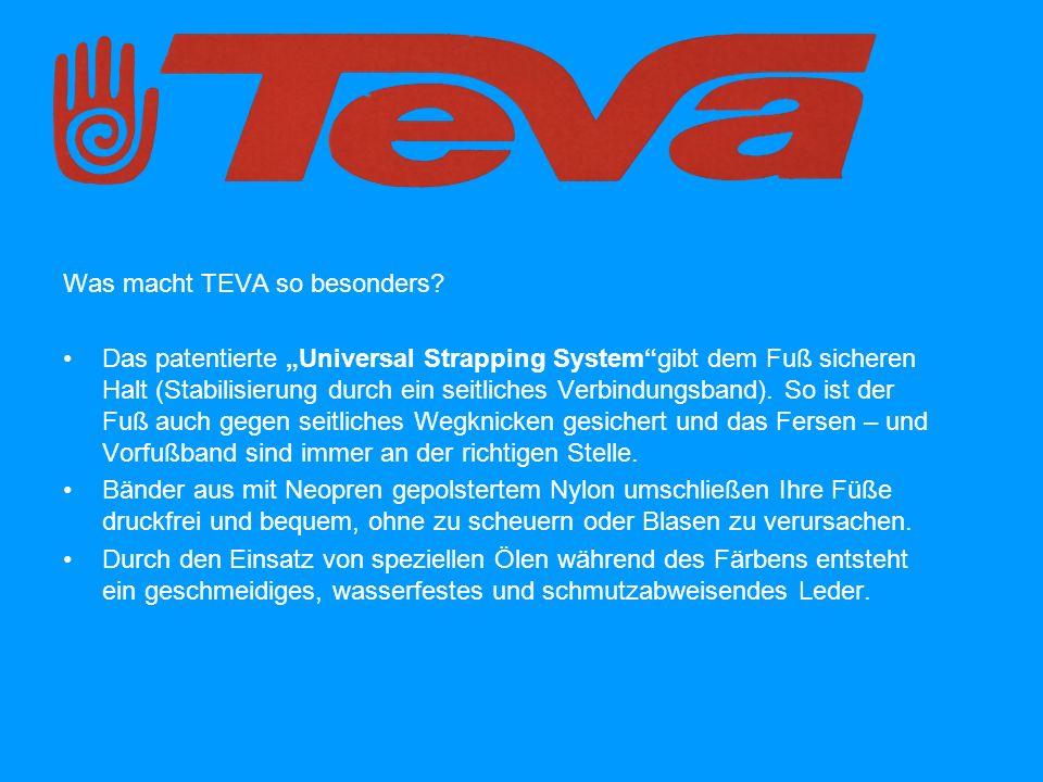Was macht TEVA so besonders.Die Sohle fängt bei jedem Schritt Stöße ab.