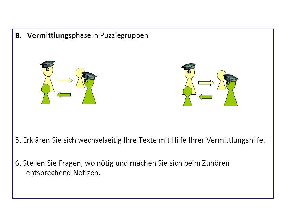 B. Vermittlungsphase in Puzzlegruppen 5.