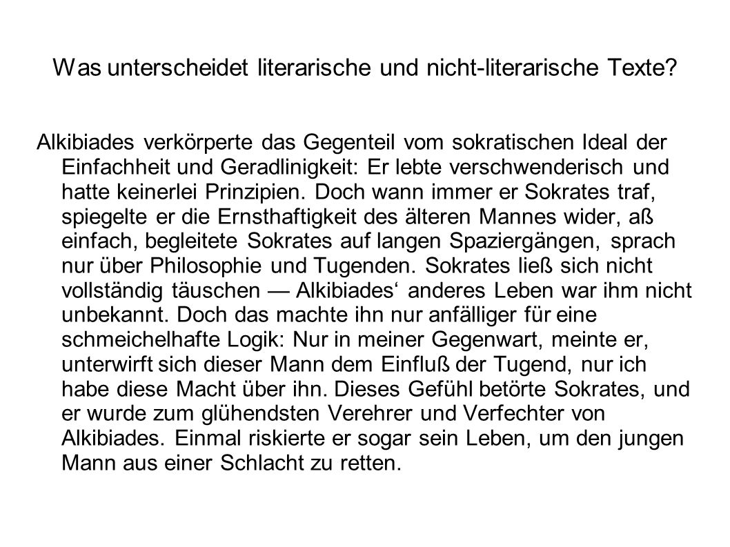 Was unterscheidet literarische und nicht-literarische Texte.