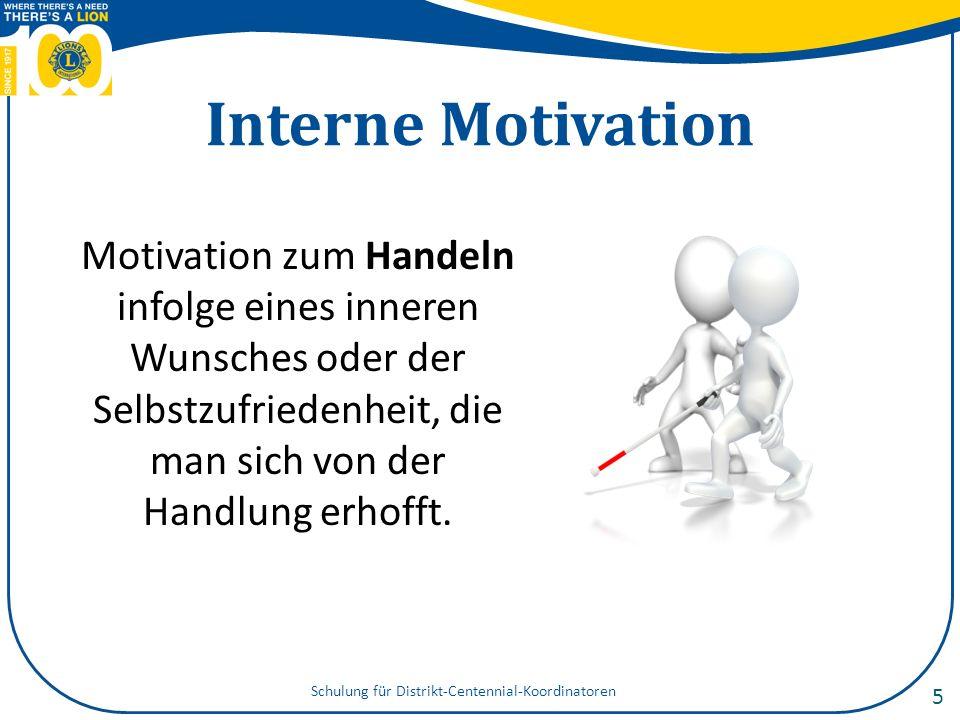 Extern im Vgl.zu intern Die Art der Motivation hängt von der Situation ab.
