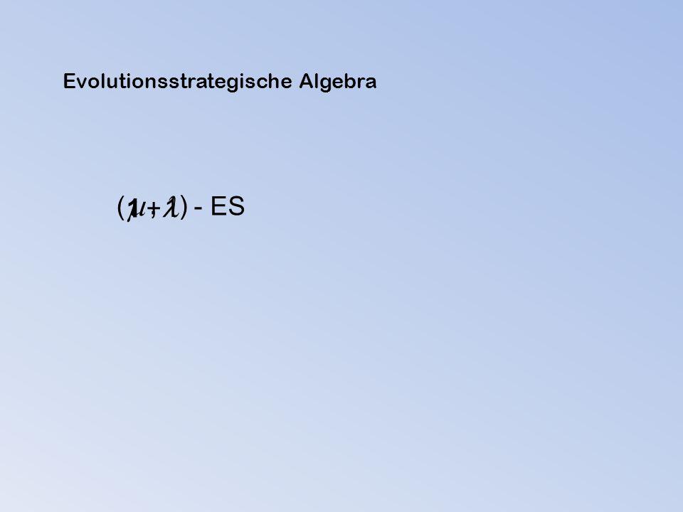 1 + 1 ( ) - ES , Evolutionsstrategische Algebra