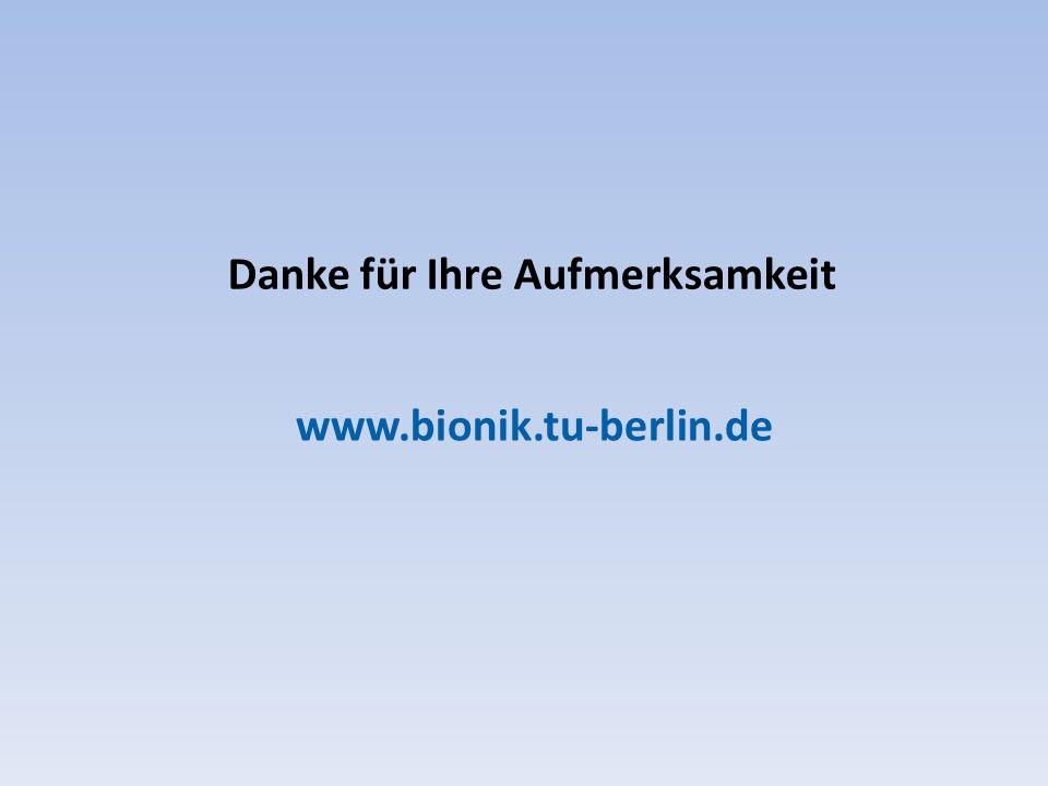 Danke für Ihre Aufmerksamkeit www.bionik.tu-berlin.de