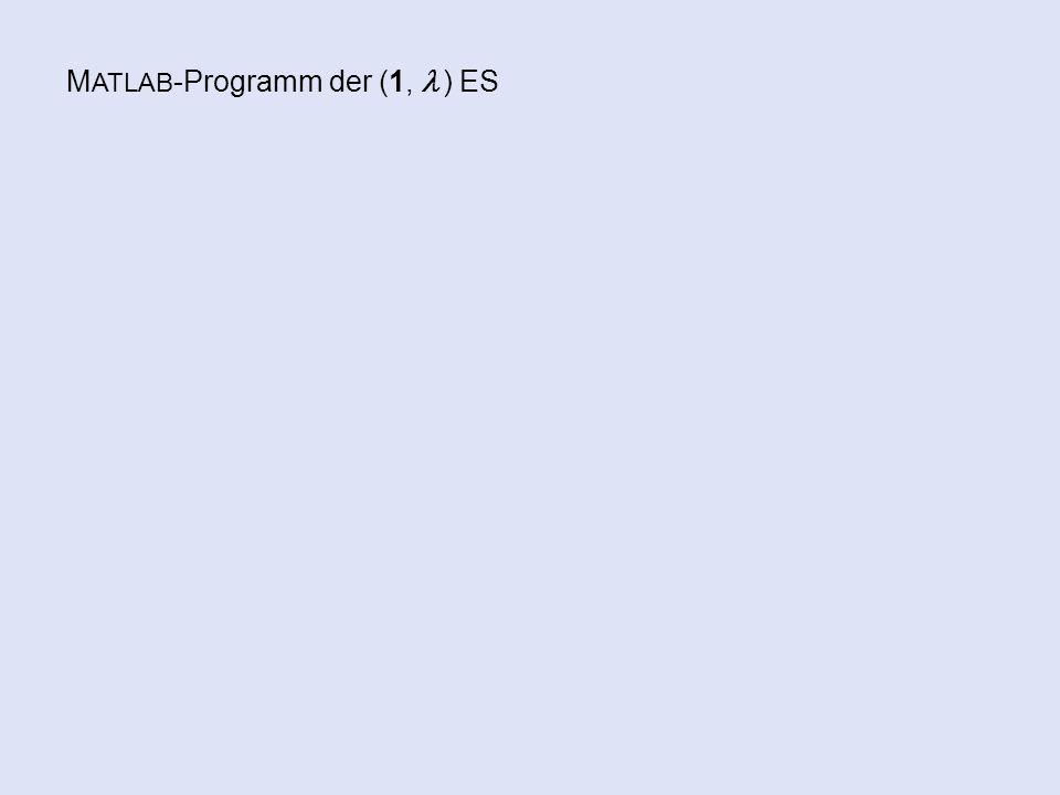 M ATLAB -Programm der (1,  ) ES