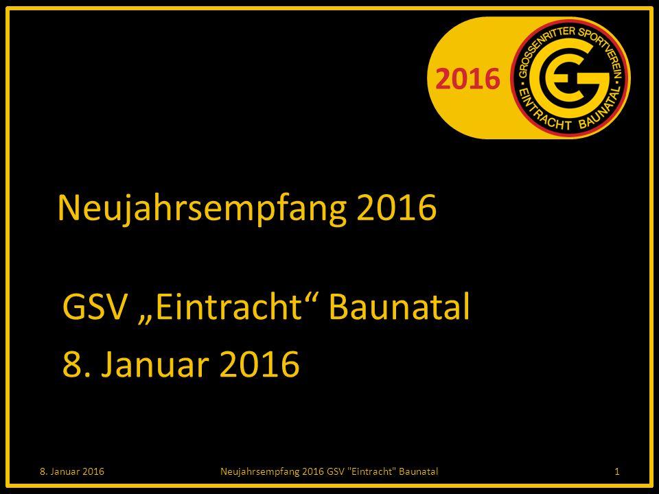 """2016 Neujahrsempfang 2016 GSV """"Eintracht Baunatal 8."""