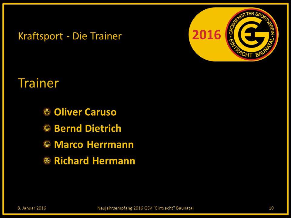 2016 Kraftsport - Die Trainer Trainer Oliver Caruso Bernd Dietrich Marco Herrmann Richard Hermann 8.