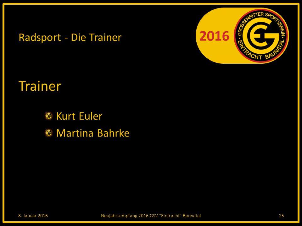 2016 Radsport - Die Trainer Trainer Kurt Euler Martina Bahrke 8.