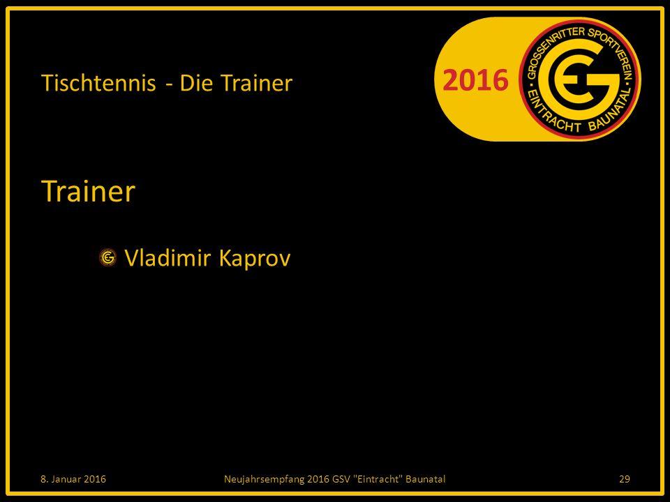 2016 Tischtennis - Die Trainer Trainer Vladimir Kaprov 8.