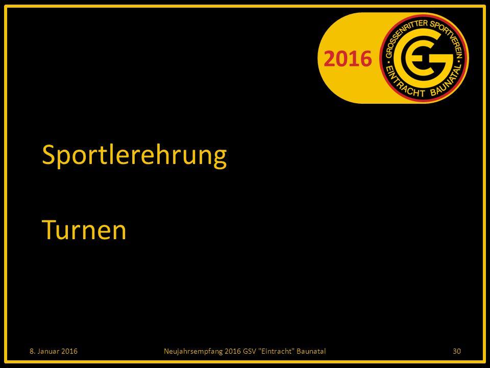 2016 Sportlerehrung Turnen 8. Januar 2016Neujahrsempfang 2016 GSV Eintracht Baunatal30