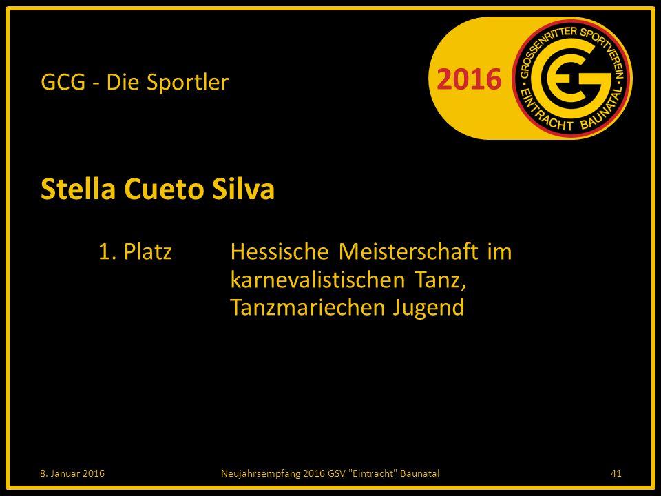 2016 GCG - Die Sportler Stella Cueto Silva 1.