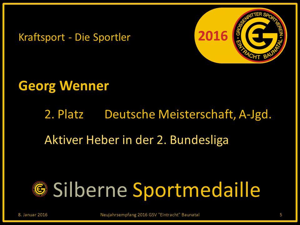 2016 Kraftsport - Die Sportler Georg Wenner 2. PlatzDeutsche Meisterschaft, A-Jgd.