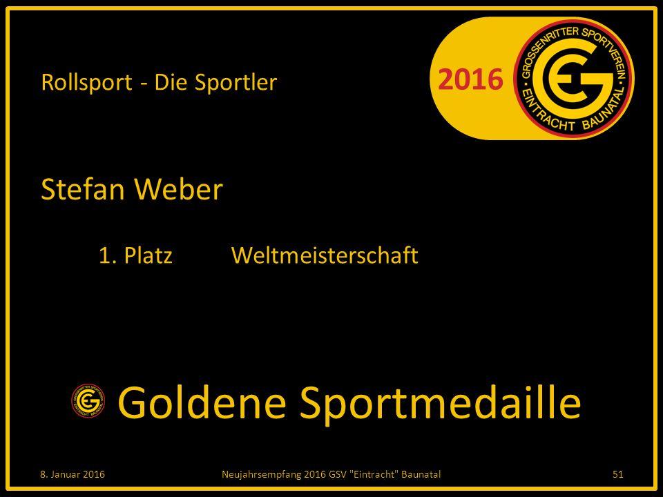2016 Rollsport - Die Sportler Stefan Weber 1. PlatzWeltmeisterschaft 8.