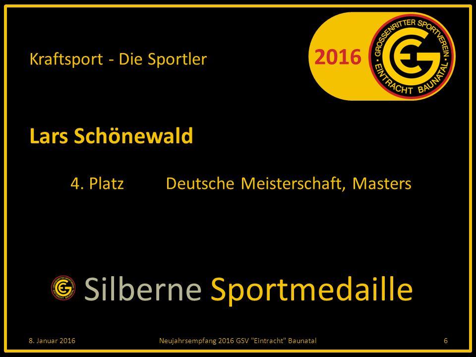 2016 Kraftsport - Die Sportler Lars Schönewald 4. PlatzDeutsche Meisterschaft, Masters 8.