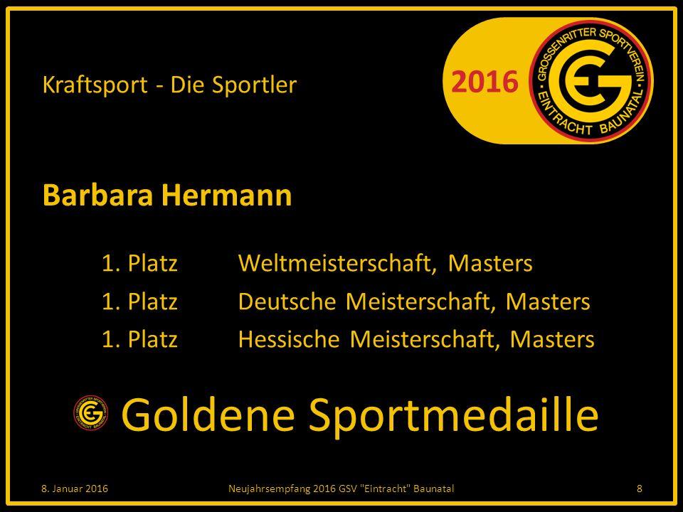 2016 Sportlerehrung Radsport 8. Januar 2016Neujahrsempfang 2016 GSV Eintracht Baunatal19