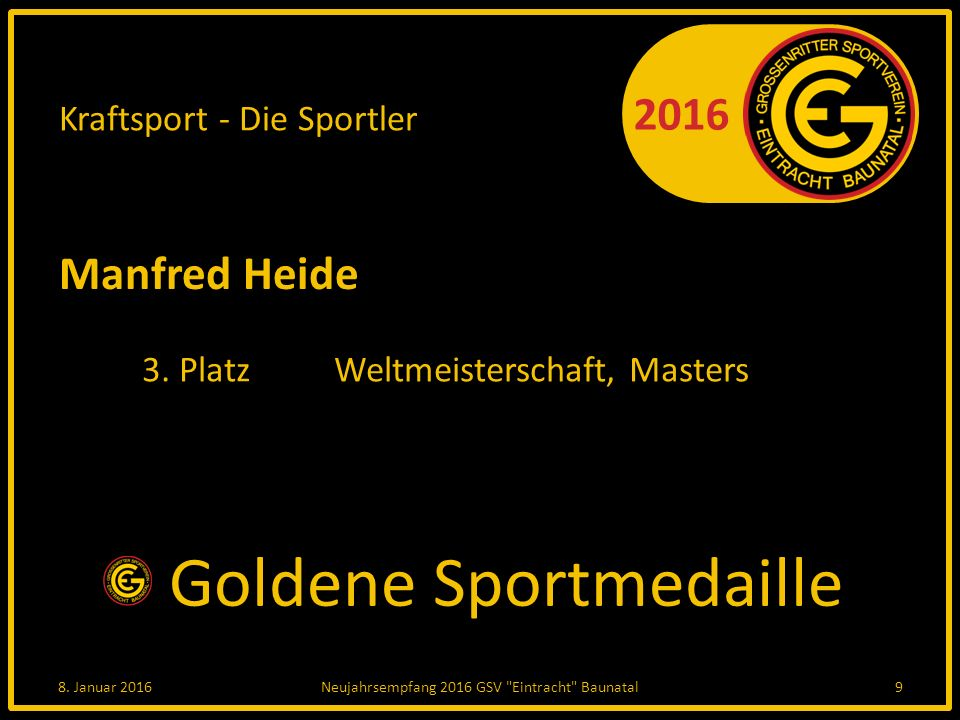 2016 Kraftsport - Die Sportler Manfred Heide 3. PlatzWeltmeisterschaft, Masters 8.