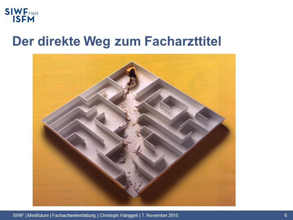 Der direkte Weg zum Facharzttitel SIWF | Medifuture | Facharztweiterbildung | Christoph Hänggeli | 7.