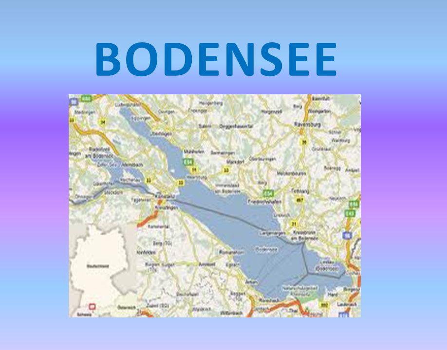 Die Ufer des Bodensees gehören zu drei verschiedenen Ländern: Deutschland, Österreich und der Schweiz.