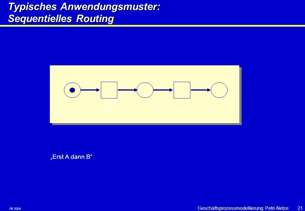 Pli 2004 Geschäftsprozessmodellierung: Petri-Netze20 Strukturelemente & Strukturen