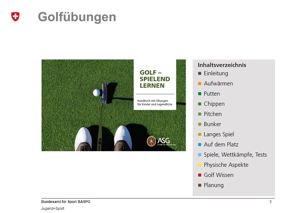 3 Bundesamt für Sport BASPO Jugend+Sport Golfübungen