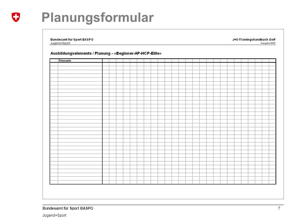 8 Bundesamt für Sport BASPO Jugend+Sport Plane.