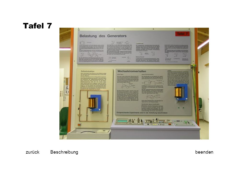 Tafel 7 zurückbeendenBeschreibung