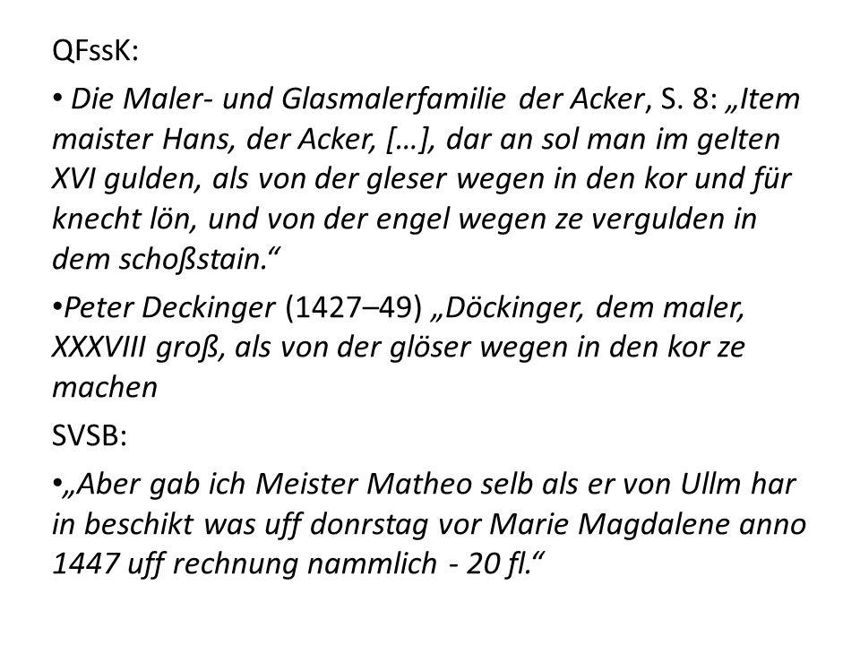 QFssK: Die Maler- und Glasmalerfamilie der Acker, S.