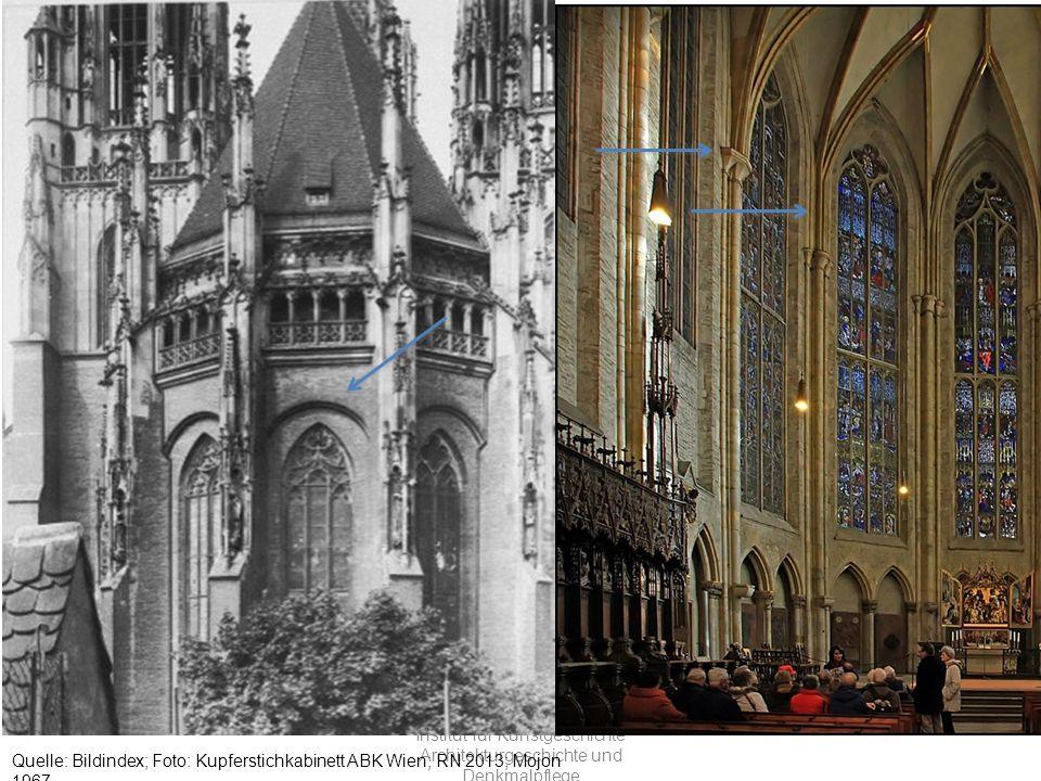 Universität Bern Institut für Kunstgeschichte Architekturgeschichte und Denkmalpflege Quelle: Bildindex; Foto: Kupferstichkabinett ABK Wien; RN 2013; Mojon 1967 Ulmer München, Ostchor