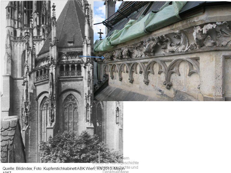 Universität Bern Institut für Kunstgeschichte Architekturgeschichte und Denkmalpflege Quelle: Bildindex; Foto: Kupferstichkabinett ABK Wien; RN 2013; Mojon 1967